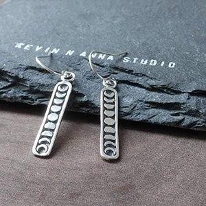 🆕Sterling Silver Moon Phase Earrings